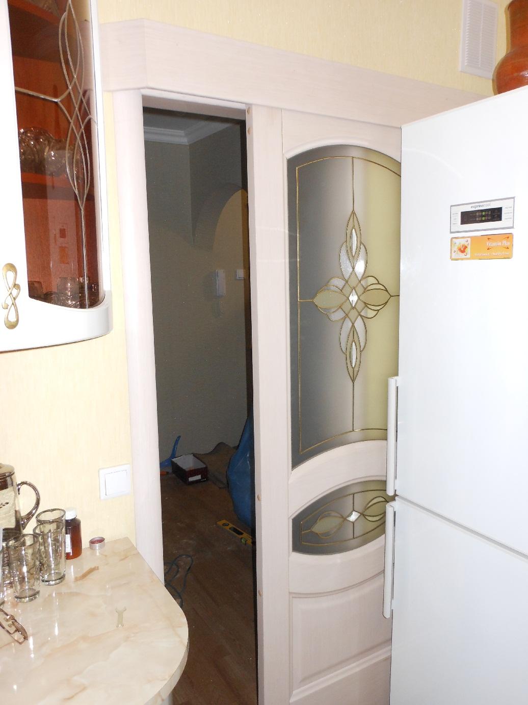 Сдвижная дверь на кухню 5